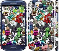 "Чехол на Samsung Galaxy S3 Duos I9300i Minecraft 3 ""775c-50"""