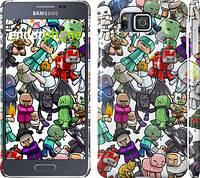 "Чехол на Samsung Galaxy Alpha G850F Minecraft 3 ""775c-65"""