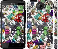 "Чехол на HTC One X+ Minecraft 3 ""775c-69"""