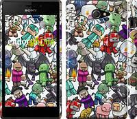 "Чехол на Sony Xperia M2 dual D2302 Minecraft 3 ""775c-61"""