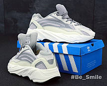 Кроссовки женские Adidas Yeezy Boost 700 Wave Runner (серый - белый) Top replic, фото 2