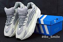 Кроссовки женские Adidas Yeezy Boost 700 Wave Runner (серый - белый) Top replic, фото 3