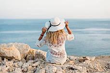 Пляжное платье длинный рукав белая 146-02, фото 3