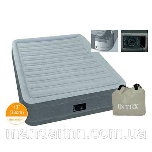 Односпальная  надувная кровать со встроенным электро насосом Intex 67766 (99-191-33 см.) + 220V