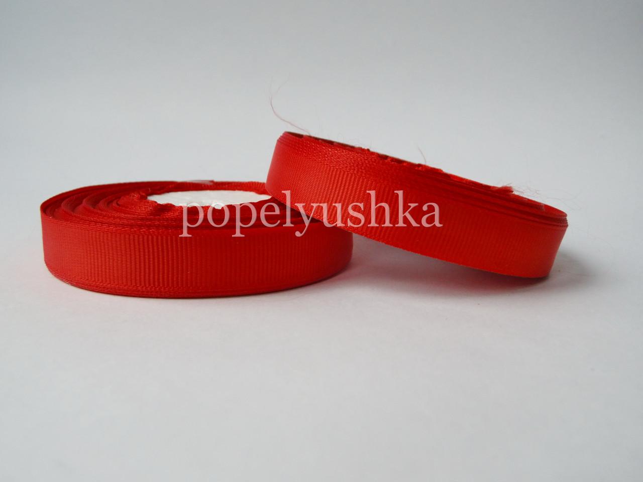 Лента репсовая 1,2 см красная