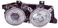 Фары передние для BMW 5 E34 '88-96 тюнинг левая и правая(комплект)  (DEPO) механическая/под электрокорректор