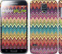 "Чехол на Samsung Galaxy S5 Duos SM G900FD Шеврон v4 ""1059c-62"""