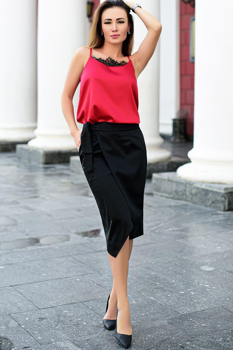 Модные юбки на запах Бони трикотаж