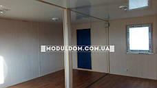 Вагончик, мобильный офис, строительство (6 х 5 м.) из 2-х модулей, на основе цельно-сварного металлокаркаса., фото 2