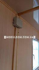 Вагончик, мобильный офис, строительство (6 х 5 м.) из 2-х модулей, на основе цельно-сварного металлокаркаса., фото 3