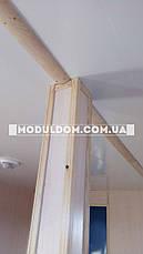 Мобильный офис, для строительства (6 х 7.5 м.) из 2-х модулей, на основе цельно-сварного металлокаркаса., фото 3