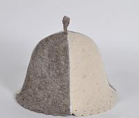 Шапка для бани и сауны войлочная колокольчик темно-белый