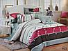 Сатиновое постельное белье семейное ELWAY 953 «Сердечки» - Фото