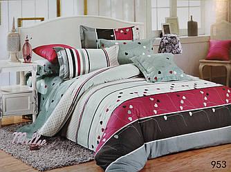 Сатиновое постельное белье семейное ELWAY 953 «Сердечки»