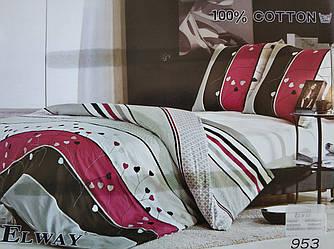 Сатиновое постельное белье семейное ELWAY 953-1