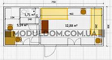 Модульный офис (7.5 х 3 м.), жилой вагончик с тамбуром, офисом и санузлом., фото 3