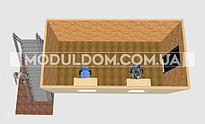 Блок-контейнер 2-х этажный, на основе цельно-сварного металлокаркаса., фото 2