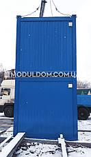 Блок-контейнер 2-х этажный, на основе цельно-сварного металлокаркаса., фото 3