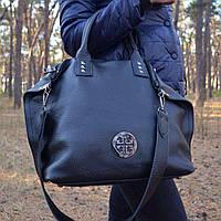 Женская большая сумка из натуральной кожи (712/Black)