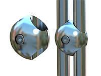Торговое оборудование - параллельное крепление для труб хромированное Италия