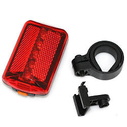 Стоп / Мигалка велосипедная задняя JING YI JY-380 5 LED на батарейках