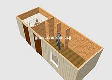 Мобильный офис (7 х 2.5 м.) со складским помещением, фото 3