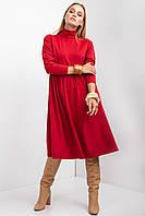 Трикотажное платье britni с воротником стойкой и длинными рукавами