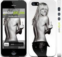 """Чехол на iPhone 5 Heidi Klum """"817c-18"""""""