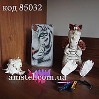 Чехол на Lenovo S850 оригинальная панель накладка с рисунком белый тигр