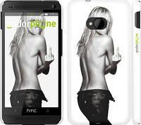 "Чехол на HTC One M7 Heidi Klum ""817c-36"""