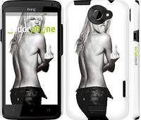 "Чехол на HTC One X Heidi Klum ""817c-42"""