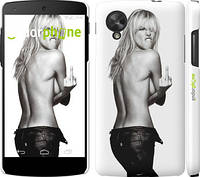 "Чехол на LG Nexus 5 Heidi Klum ""817c-57"""