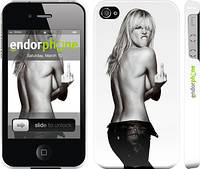 """Чехол на iPhone 4s Heidi Klum """"817c-12"""""""