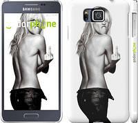 "Чехол на Samsung Galaxy Alpha G850F Heidi Klum ""817c-65"""