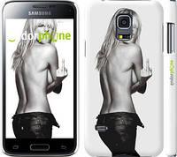 "Чехол на Samsung Galaxy S5 mini G800H Heidi Klum ""817c-44"""
