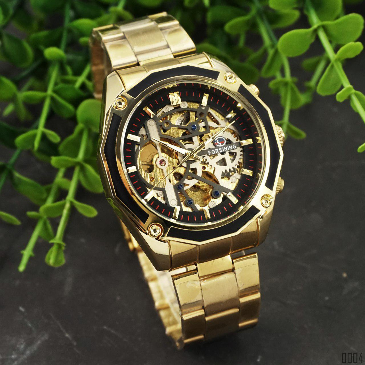 Часы Forsining 8130 Gold-Black