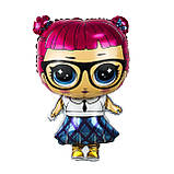 Фольгований куля Лялька LOL школярка Китай, 68*47 см 1596, фото 2