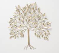 Настенный декор Дерево из металла золотой 74 см