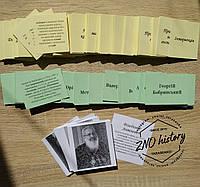 Поняття + персоналії-портрети, 590 карток ЗНО історія України 2020