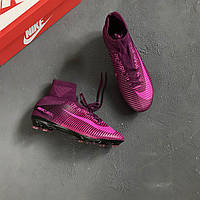 Бутсы Nike Mercurial Superfly V FG - Bright Crimson/Purple/University Purple/Hyper Crimson 41(26см)