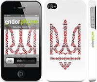 "Чехол на iPhone 4s Герб - вышиванка ""1195c-12"""