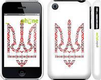 """Чехол на iPhone 3Gs Герб - вышиванка """"1195c-34"""""""
