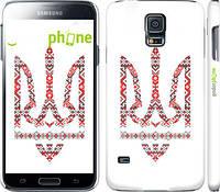 "Чехол на Samsung Galaxy S5 g900h Герб - вышиванка ""1195c-24"""
