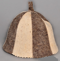 Шапка для бани и сауны войлочная колокольчик Карусель