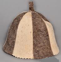 Шапка для бани и сауны войлочная колокольчик Карусель, фото 1