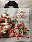 Новогодний пакет с петлевой ручкой Подарки 380*340, 10 шт, фото 3