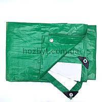 Тент 3х4 от дождя и снега, затеняющий 120г./м2 (зелёно-белый)