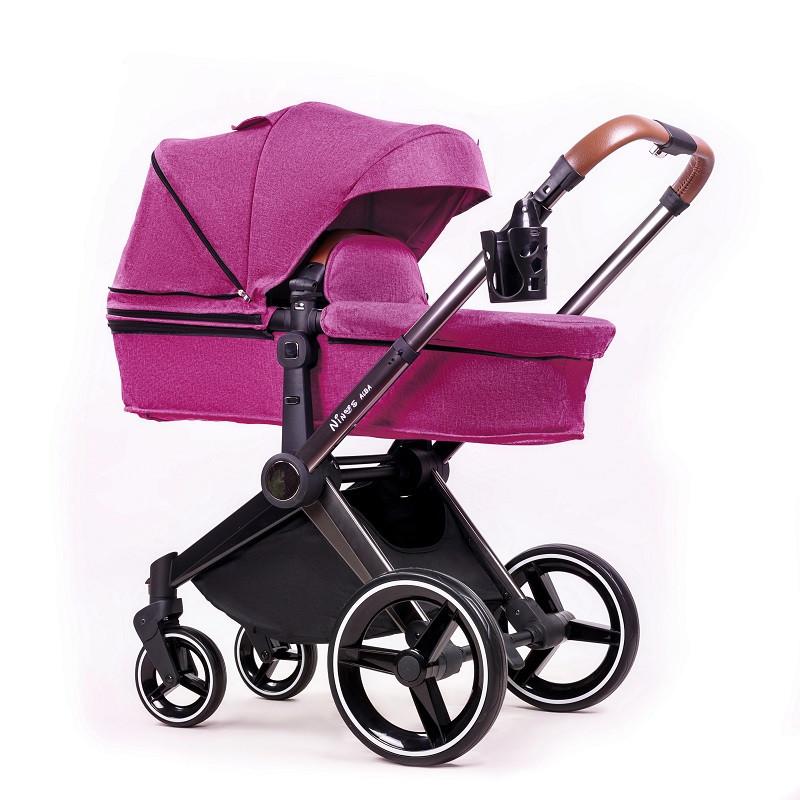 Коляска Ninos Alba Purple Top 2в1 фиолетовая