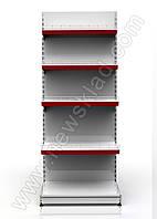 Стелаж торговий прямий приставний 2100 * 950 мм 5 полок Ристел