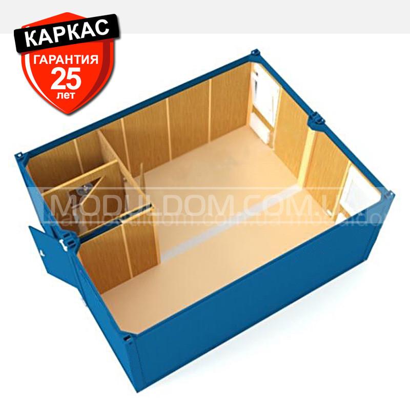 Блок-контейнер ОПЕНСПЕЙС - 2 (6 х 4.8 м.), площадь 28.8 кв.м2., на основе цельно-сварного металлокаркаса.